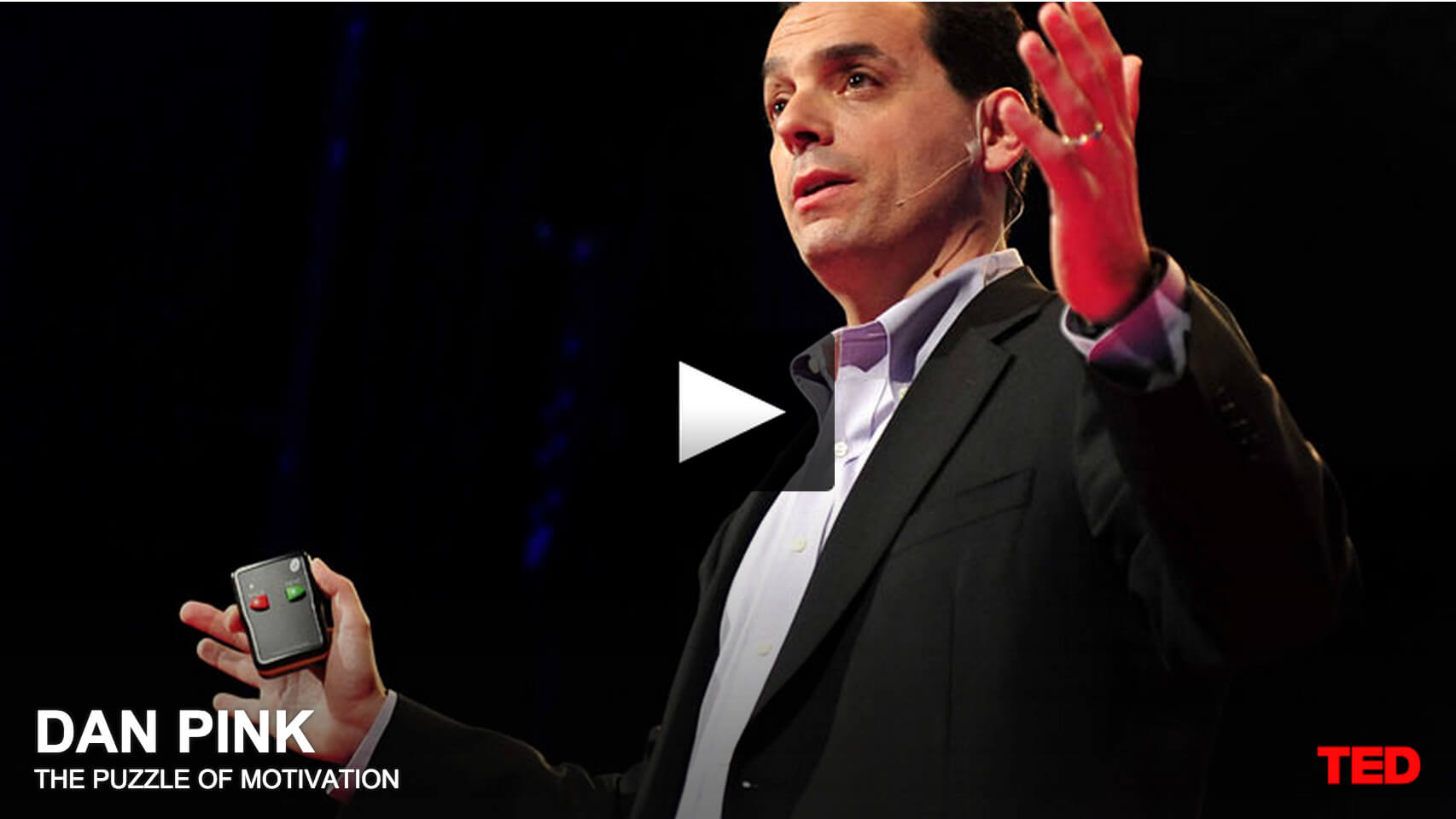 motivation and daniel h pink Drive: the surprising truth about what motivates us by daniel h pink riverhead books, 2009 in drive, pink compellingly challenges the old assumptions about how to motivate people and repair the mismatch between what science knows and what business does.